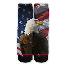 Function - American Eagle With Flag Fashion Socks USA patriot red white blue