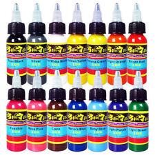 Solong Tattoo Ink 14 Colors Set 1oz 30ml/Bottle Tattoo Pigment Kit TI301-30-14