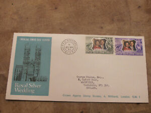1972 British Indian Ocean Territory FDC / Cover -Royal Silver wedding