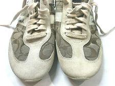 COACH 8 M Beige Tan Shoes Athletic Signiture