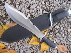 MP9 Gürtelmesser Machete Säge Outdoor Angler Messer Knife Edelstahlklinge  BU 1