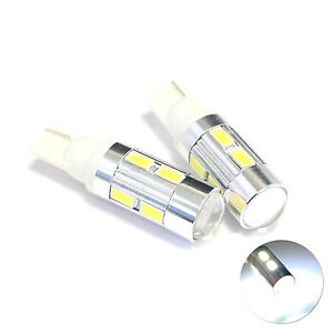 2x 501 White 10-SMD LED Projector Lens Number / Licence Plate Light Bulbs Lamps