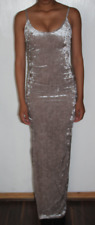 Club L All Over Crushed Velvet Maxi Dress Size UK 6 rrp £25 DH089 AA 03
