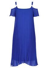 Off the shoulder Blue pleat lined celebration diamante strap Tea party dress 22