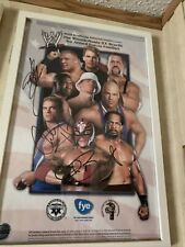 Chris Benoit Brock Lesnar And Charlie Hass Promo Autographed