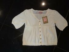 NWT Juicy Couture New & Gen. Girls Age 8 Cream 100% Cotton Cardigan With Heart
