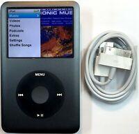 Apple iPod Classic 6th Generation Gray Grey Black 80GB New Battery Refurbished