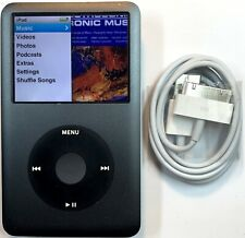 Apple iPod Classic 6th Generation Gray Grey Black 80GB New Battery Refurbished