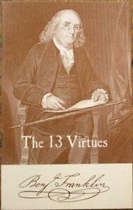 Benjamin Franklin 'The 13 Virtues' Self-Improvement Booklet