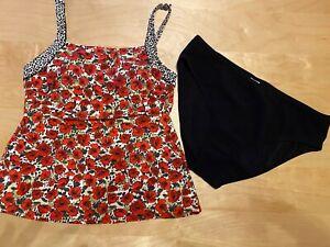 Anita Care Bikini Prothese Tankini Badeanzug Größe 38 / M schwarz Punkte