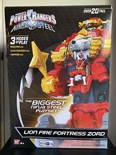 """Power Rangers Ninja Steel LION FORTRESS ZORD 20"""" Tall Toys R Us Exclusive- NEW!"""