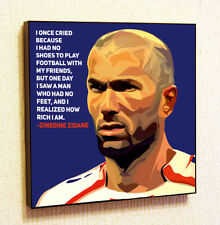 Zinedine Zidane Painting Decor Print Wall Art Poster Pop Canvas Quotes Decals