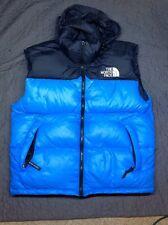 Vintage 90s North Face Nupste 700 Down Vest Mens M/L Blue/Black Winter Jacket
