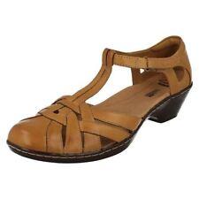 Clarks Standard (D) Width 100% Leather Cuban Heels for Women