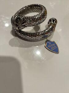 Whiting & Davis Mesh Style Bracelet Blue Stone Original Tag