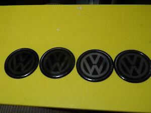 VW-Enbleme für Scheibenräder Felgen 44mm Kunststoff Silber Schwarz Zubehör