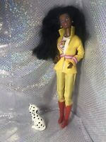 Vintage Firefighter Barbie Doll Christie AA great Hair Dalmatian Beauty Rare 🐶
