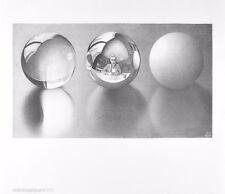 MC Escher Drei Kugeln II Poster Kunstdruck Bild 55x65cm