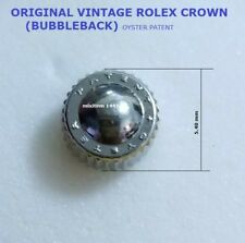 NEW ! VINTAGE BUBBLEBACK ROLEX WATCH CROWN Stainless Steel / Gasket included