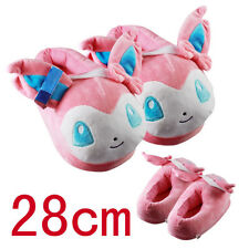 2017 Anime Pokemon Sylveon Plush Slipper House Slippers Cosplay Toy 1 pair