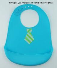 Lätzchen abwaschbar, Auffangschale, Silikon, Baby, Latz, BPA-frei, blau