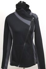 CAbi Womens Dash Asymmetrical Zip Black Grey Jacket Size Small