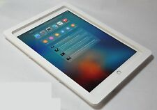 iPad Pro 12.9 White Acrylic Security VESA Enclosure w Wall Mount Kit