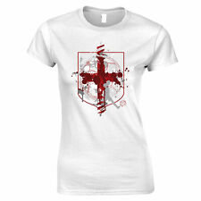 World Cup Womens TShirt England Flag Football Crest Of Arms Soccer League Sports