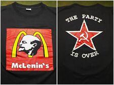 Vintage Mens L 80s 90s End Russian Communism Vladimir Lenin Party's Over T-Shirt