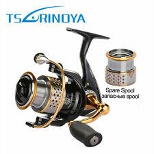 Trulinoya Spinning Reel + One Spare Spool Fishing Reel 2000 Series 5.2:1 9BB