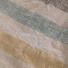 Duvet Cover - Twin XLong - Striped White, Grey, Yellow & Blue/Green