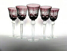 5 Fantastische Römer/ Wein/ Sektgläser  Bleikristall violetter Überfang 22 cm