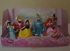 Disney GLITTER Princess Christmas Ornament Figure 6pc Set  Ariel Mulan Tianna