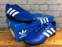 ADIDAS MENS UK 8 EU 42 NEMEZIZ 18.4 FG BLUE WHITE FOOTBALL BOOTS PERSONALISED