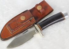 VTG 1960's RANDALL MADE 11-4.5 ALASKAN SKINNER LEATHER HANDLE KNIFE BROWN BUTTON