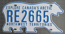 Northwest Territories 2011 POLAR BEAR RENTAL VEHICLE License Plate # RE2665