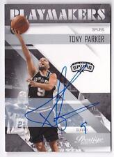TONY PARKER 2010-11 PRESTIGE PLAYMAKERS SIGNATURE ON CARD AUTO #41/42 SPURS