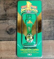New listing 1994 Mighty Morphin Power Rangers Green Ranger Collector's Watch w/ Tin New Nos