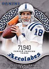 Peyton Manning 2017 Panini Football Trading Card, accolades