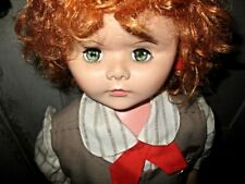"""1960's HUGE 39"""" Playpal Companion Redhead Doll in Complete Brownie Uniform"""