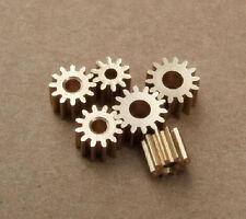 10 pcs/lot 2.3 MM Pore 12 Tooth Brass Motor Shaft Gear DIY Toys Parts K092
