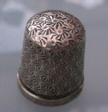 Antique Silver Thimble Lovely Condition Hallmarked (No Needle Holes To Thimble)