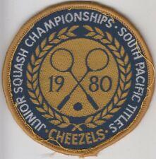 Cheezels South Pacific Titles Junior Squash Championships woven uniform patch