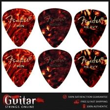 "6 x Mixed Fender 451 ""Slightly Smaller"" Standard Shape Classic Celluloid Picks"