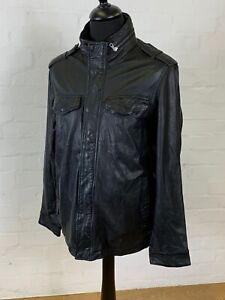 Gap Leather Bomber Biker Jacket MEDIUM