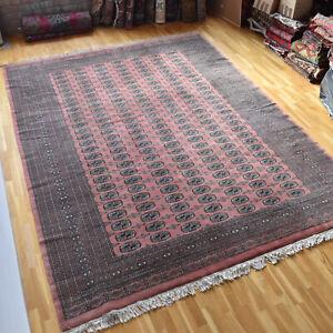 X large Bokhara Handmade Vintage Traditional Oriental Wool Rug 355 X 260cm