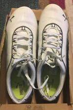 Puma SOLEIL FS Womens Sneaker Size 9.5 Low White Lime & Grey Lace Up. PreOwned