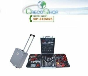 Cassetta attrezzi a Trolley/Officina portatile con 187 utensili - OFFERTA