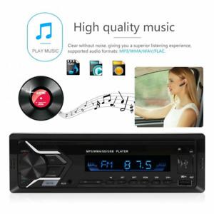 1pc 12V Car Stereo Radio FM Music Player Bluetooth 4.0 MP3 USB AUX WAV FM TF