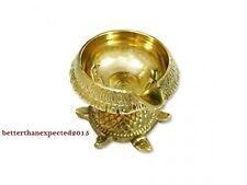 Brass Kuber Tortoise Vastu Diya Hindu Temple Puja Religious Indian Oil Lamp